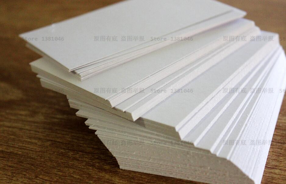 100 Blank White Index Cards Business Card Gift Tag Plain Cardstock ...