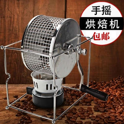 где купить Household Hand Dryer Coffee Bean Roaster DIY Small Stainless Steel Roller Baking Machine дешево