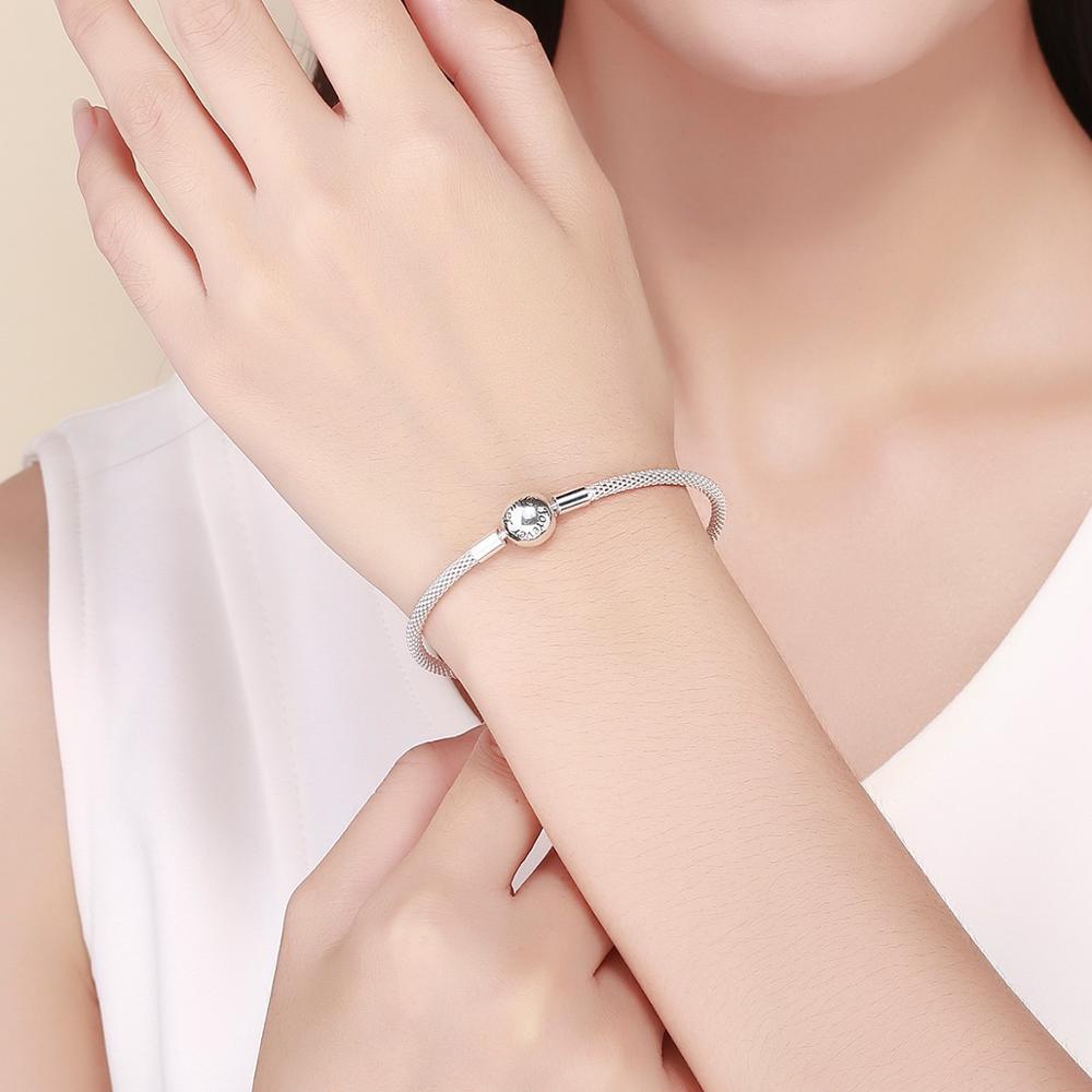Image 2 - fit original Pandora beads pendant making woman authentic 100%  925 sterling silver charm bracelet Snake bracelet jewelryCharm  Bracelets