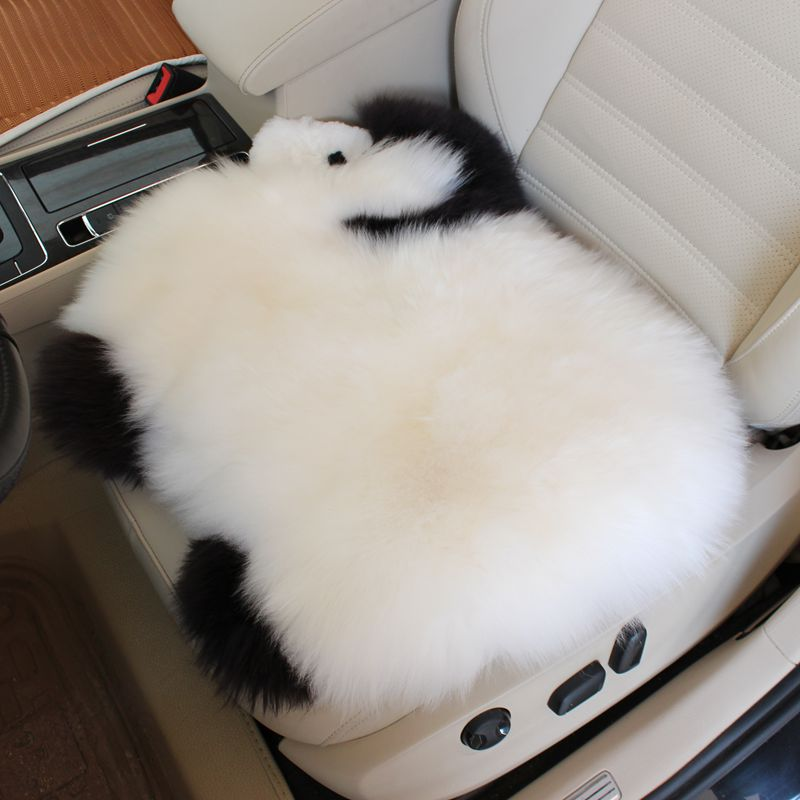 New Cute Cartoon Lambs Wool Car Seat Cushion / Seat Cover Winter Australian Wool Fur Chair Pads Hairy for Car Office Home 1PCS