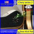 Hireno Car Door Anti Kick Pad Mat Cover Sticker For Chery Chery E5 Qoros 3 Riich G5 Tiggo Tiggo3 Tiggo5 Car Door Protective Pad