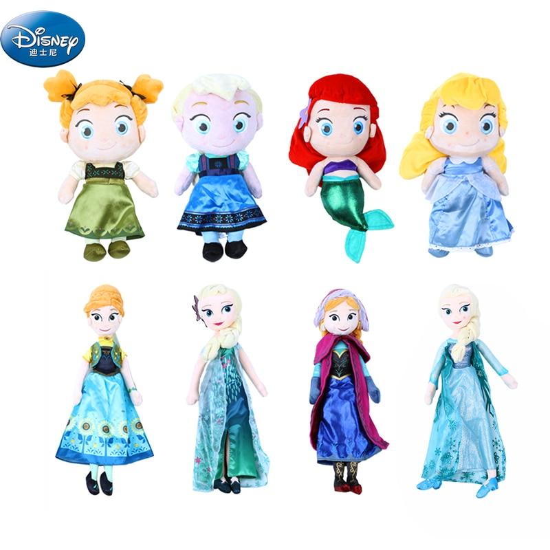 Us 8 99 Disney Frozen Elsa Anna Princess Plush Toys Cartoon Olaf Kristoff Dolls Kids Girls Birthday Gift In Movies Tv From Toys Hobbies On