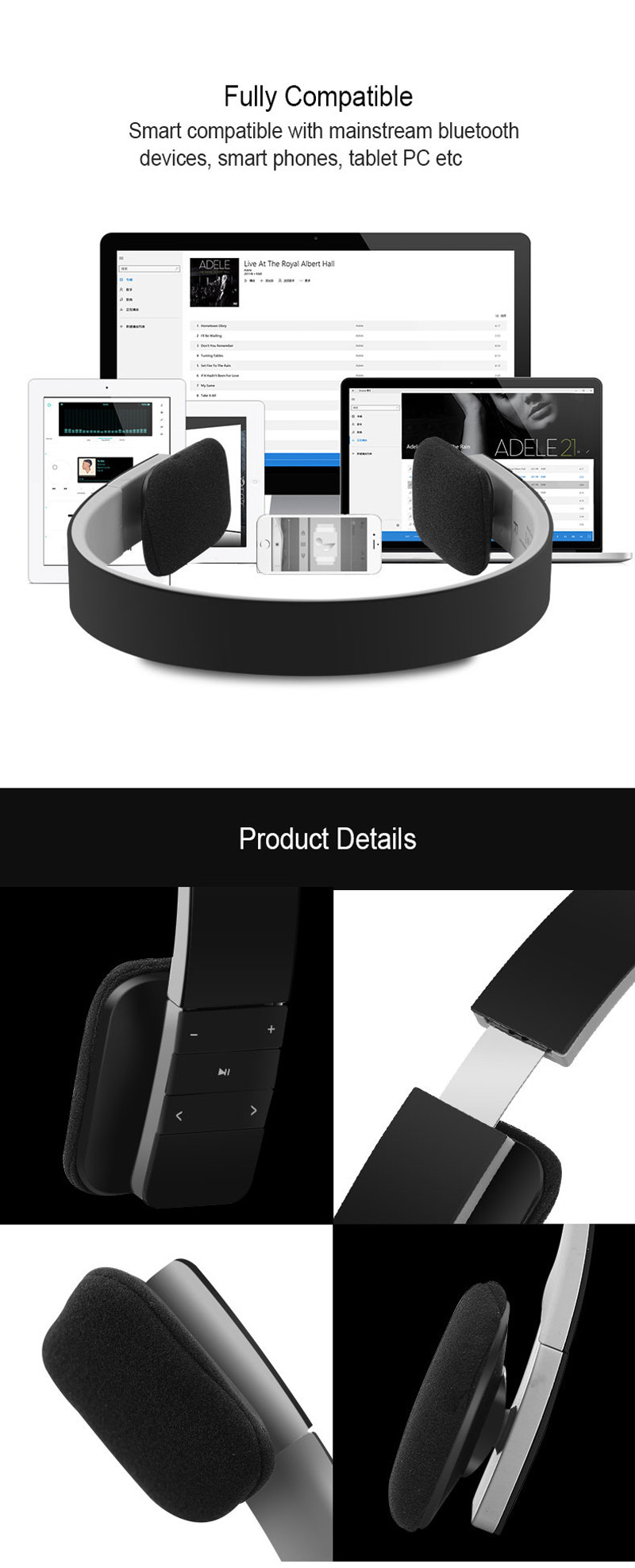 wireless headphones bluetooth5