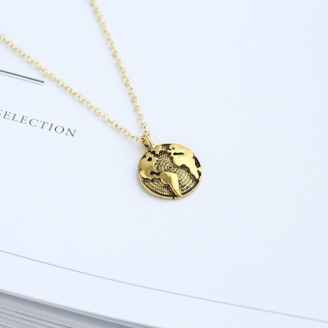 Antique silver globe world map pendant choker necklace personality antique silver globe world map pendant choker necklace personality elegant statement jewelry women tiny dainty necklace gumiabroncs Gallery