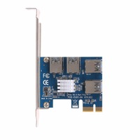 PCI E 1X To 4 PCI E 16X Slots Riser Card External Adapter PCI E 1