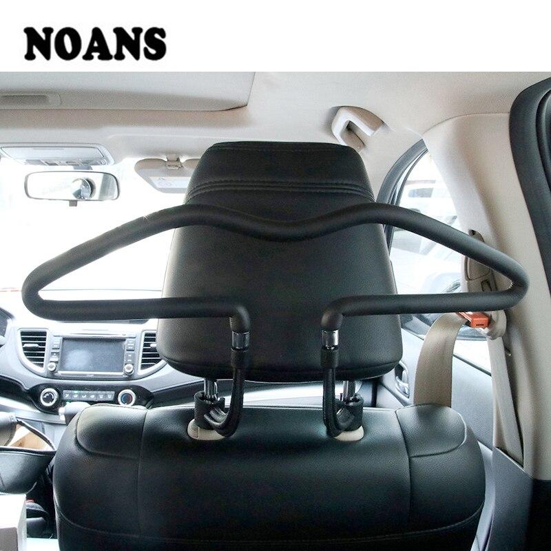 Car Back Seat Headrest Soft PVC Coat Hangers For Hyundai I30 Creta Tucson BMW X5 E53 X6 VW Golf 6 7 GTI Kia Rio Sportage 2017