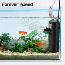 6W Aquarium Filter Submersible Fish Tank Aquatic Spray Flow Biological Plus Power  Internal Pump