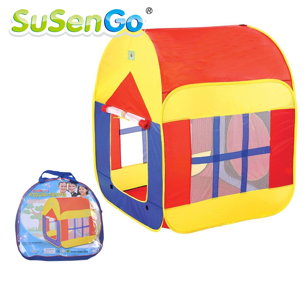 Free Shipping New Arrival Cute Cartoon Child Play Game House Kids Play Tent Baby Breathable Toy Tent With Big House