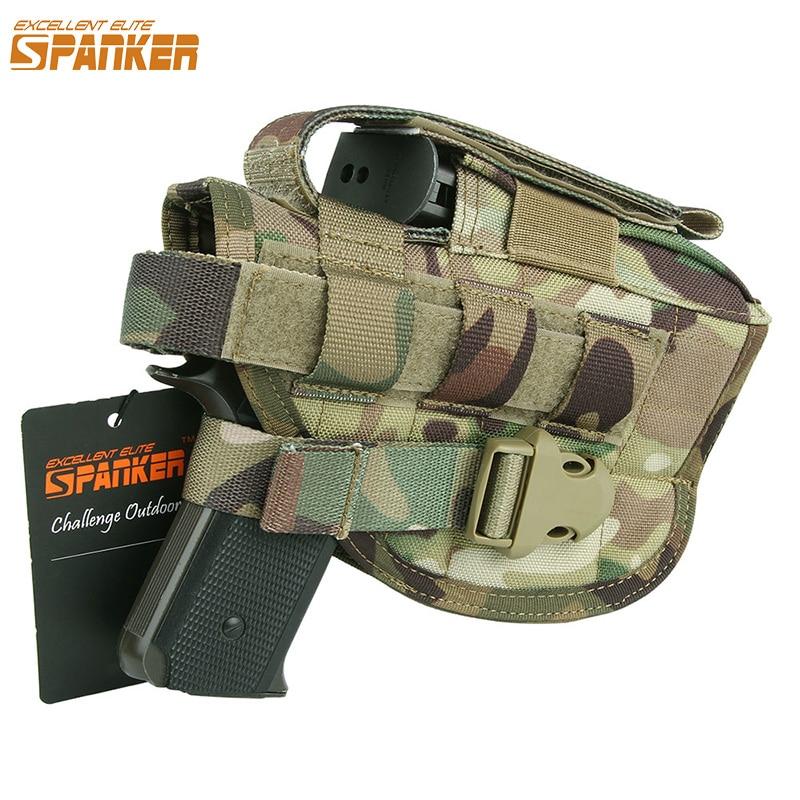 EXCELLENT ELITE SPANKER Venkovní taktické lovy Univerzální pistole pouzdra nohavicové vaky Ammo klip vojenská pouzdra Molle pistole Bag Equipment