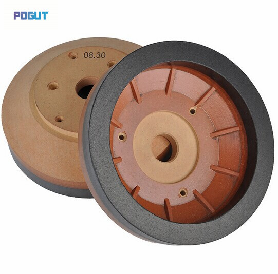 HIGH QUALITY Resin Wheel 150*15*10 for glass beveling machine straight edge diamond wheel for glass metal bond abrasive wheels for glass ceramic edging and beveling hole 22mm grit 150 m008