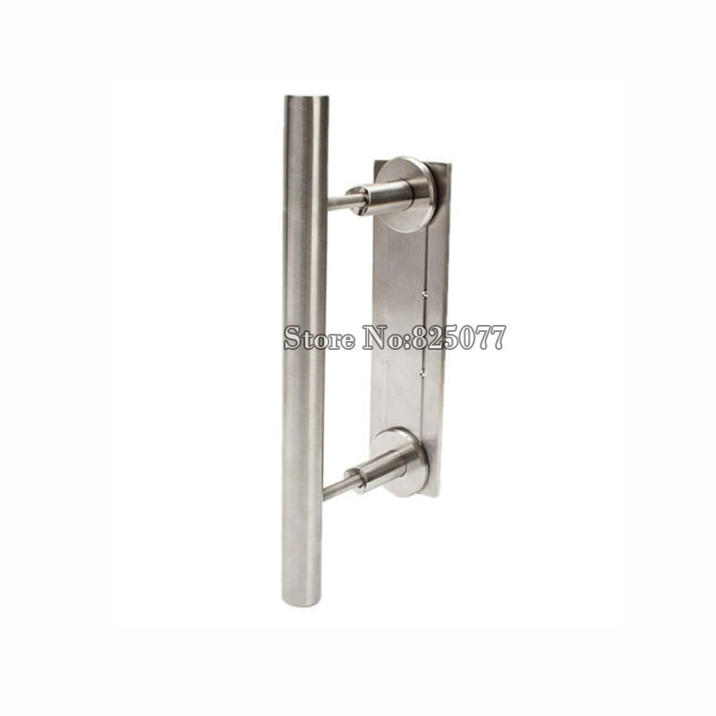 1 pièces poignée de porte de grange en acier inoxydable et poignée de porte coulissante en bois bouton CP431
