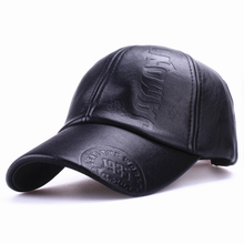 Xthree New fashion high quality fall winter men leather hat Cap casual moto snapback hat men