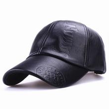 Xthree nuevo moda de alta calidad de invierno de cuero de los hombres sombrero casual moto del sombrero del snapback gorra de béisbol de los hombres al por mayor