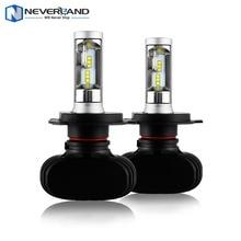 Neverland 8000lm 50 Вт 6500 К автомобилей светодиодные фары комплект Противотуманные огни H4 H7 H11 H1 9005 HB3 9006 HB4 880 881 9 В 32 В