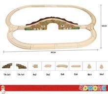 Томас и друзья — 1 компл. 21 шт. двойной озеро томас поезд деревянные дорожки железнодорожный цвет моста трек для томаса биро поезд