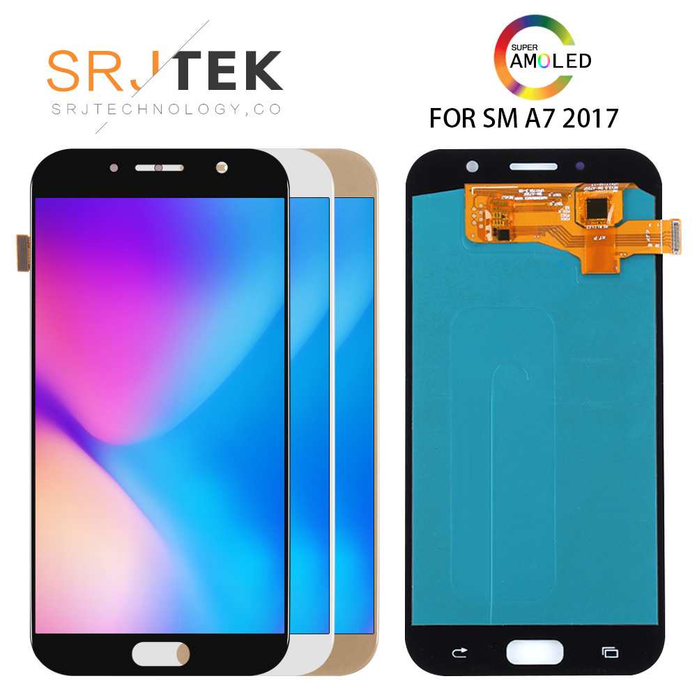 5.7'' AMOLED/OLED Replacement For <font><b>Samsung</b></font> Galaxy A7 2017 Display A720 LCD <font><b>A720F</b></font> LCD A720M A720Y Touch <font><b>Screen</b></font> Digitizer Assembly image