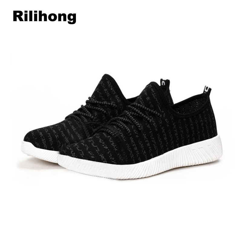 White Sneakers Women 2018 Spring Autumn Shoes Woman Flats Breathable Mesh Lace Up Round Toe Casual Women Shoes Black Blue Pink asumer white spring autumn women shoes round toe ladies genuine leather flats shoes casual sneakers single shoes