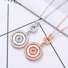 JEM 925 sterling silver necklace ladies twist classic style Internet celebrity pendant party gift