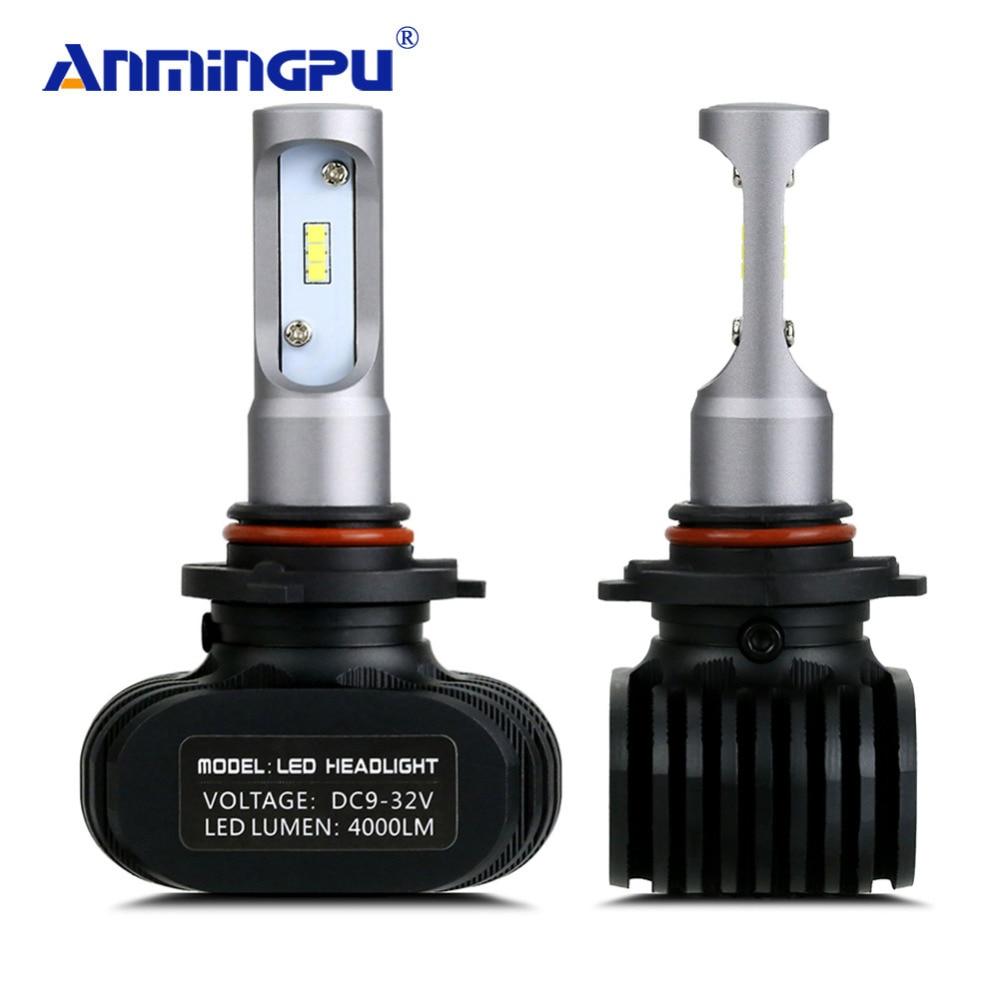 ANMINGPU 8000LM/Set Auto Licht Fanless 12 v Scheinwerfer Lampen LED H7 H4 Led-lampen H8 H11 9005 9006 h1 H3 9012 H13 9004 Scheinwerfer