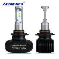 ANMINGPU 8000LM Set Car Light Fanless 12V Headlight Blubs LED H7 H4 LED Bulbs H8 H11
