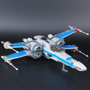 Image 5 - Star Wars 75149 de 75218 bloques de primer orden Poe X ala del combatiente modelo bloques de construcción de Star Wars ladrillos regalo de juguetes de los niños