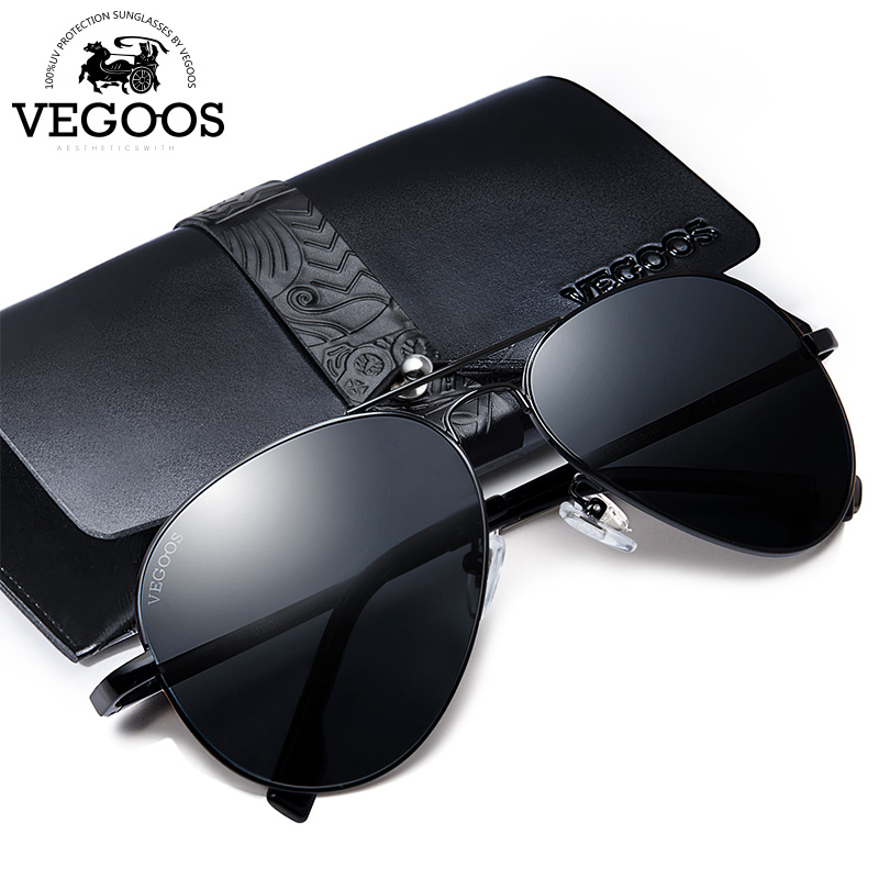Óculos de Sol Óculos de Condução óculos de Sol Dos Homens Polarizados VEGOOS  Aço Inoxidável Aviação Quadro Oculos de sol Masculino Óculos de Sol  3025 m  em ... 8a8b3ca557