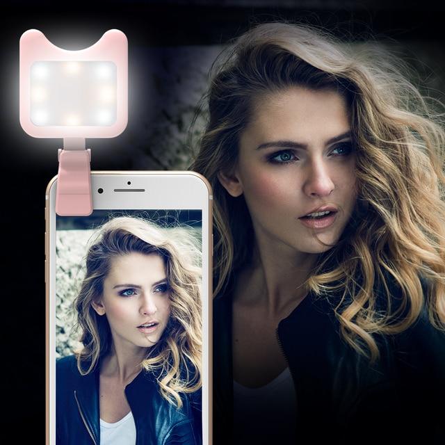 APEXEL LED Selfie Light Fill-in light +0.36X Wide Angle Lens + 15X Macro Lens Kit For iPhone Samsung phones 1