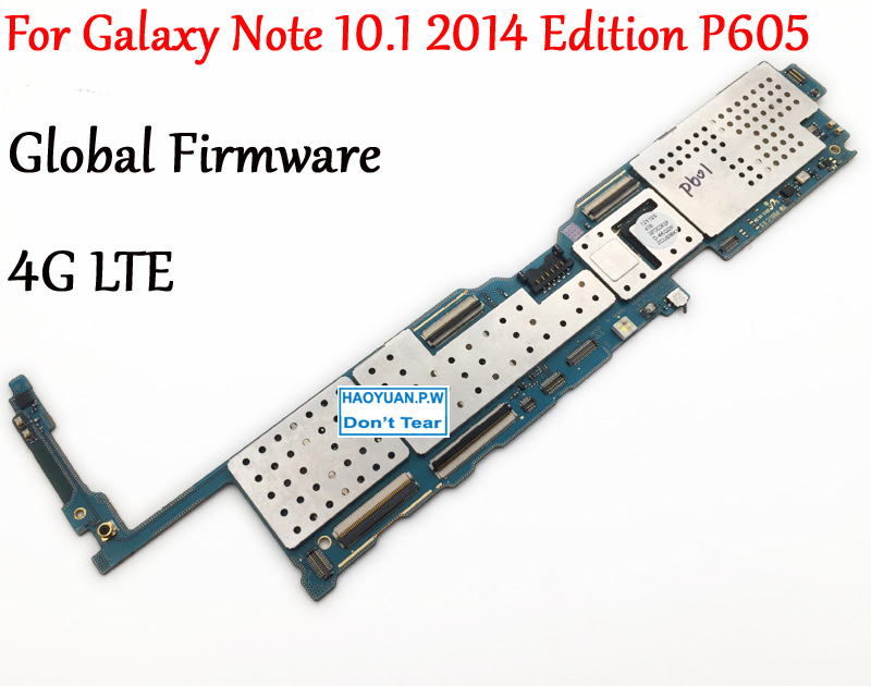 Tested Full Work Unlock Motherboard For Samsung Galaxy Note 10 1 2014 Edition P605 SM P605