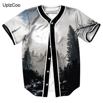 мужской черный кардиган | UplzCoo 2019 Мужская футболка китайский черный и белый лес цифровой печати модные мужские большие размеры с коротким рукавом Кардиган FM041
