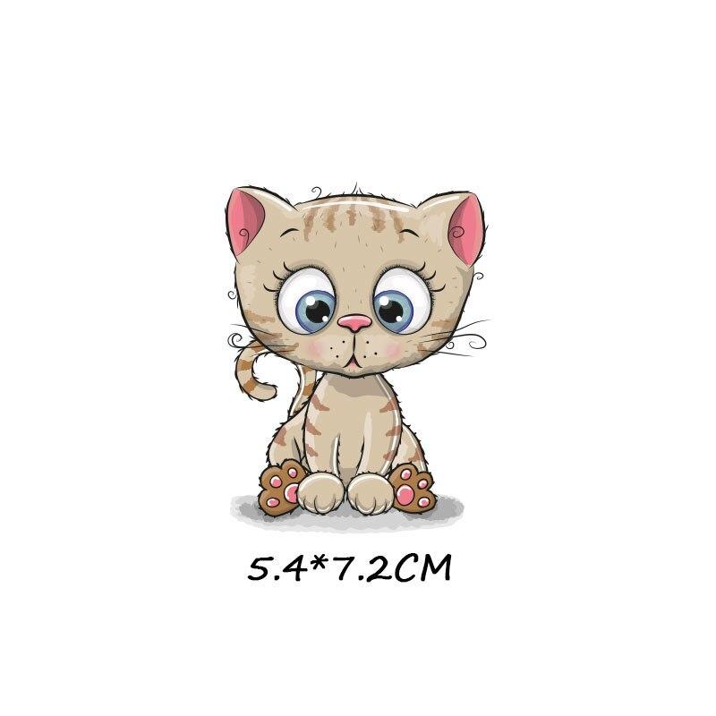 Милые маленькие животные Единорог Сова собака кошка патч для одежды стикер для детей мальчик девочка DIY патчи Футболка теплопередача Винил - Цвет: zt1095