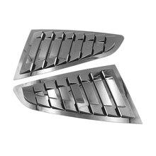 2 шт. глянцевый черный Защита от солнца на заднее стекло авто боковые вентиляционные решетки крышка Щит украшения Стикеры для Ford Mustang