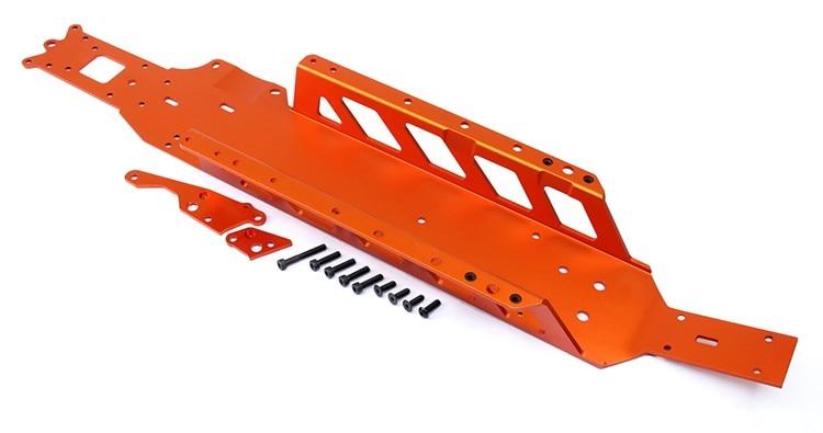 цена CNC metal all-in-one big bottom plate kit for 1/5 hpi rovan km baja 5b 5t 5sc parts онлайн в 2017 году