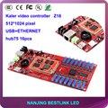 Калер светодиодный контроллер карты Z16 асинхронный rgb видео 512*512 пиксельный контроль карты с p10 светодиодный модуль для rgb led видео