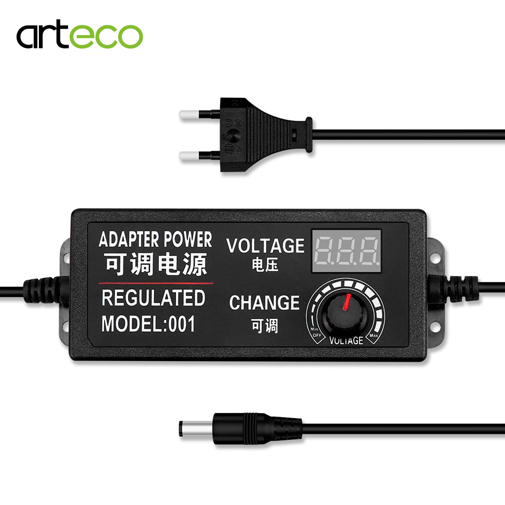 AC To DC Adjustable Voltage Power <font><b>Adapter</b></font> <font><b>3V</b></font> 9V 12V 24V Universal Power Supply Display Screen Power Switching Charger Adatper image