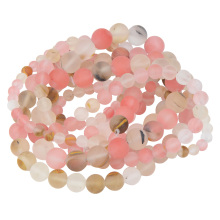 Frosted Natural Stone Amazonite And Watermelon Beads for Bracelet Making