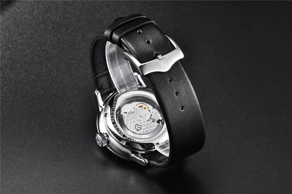 de couro mecânico homem de luxo relógios
