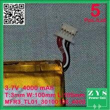 2 шт./лот безопасности упаковка, 3,7 V 4000 mah Li-Ion аккумулятор для CHUWI VI10 планшетный ПК с 5 контактный разъем, 3,0*100*105 мм 4000 mah