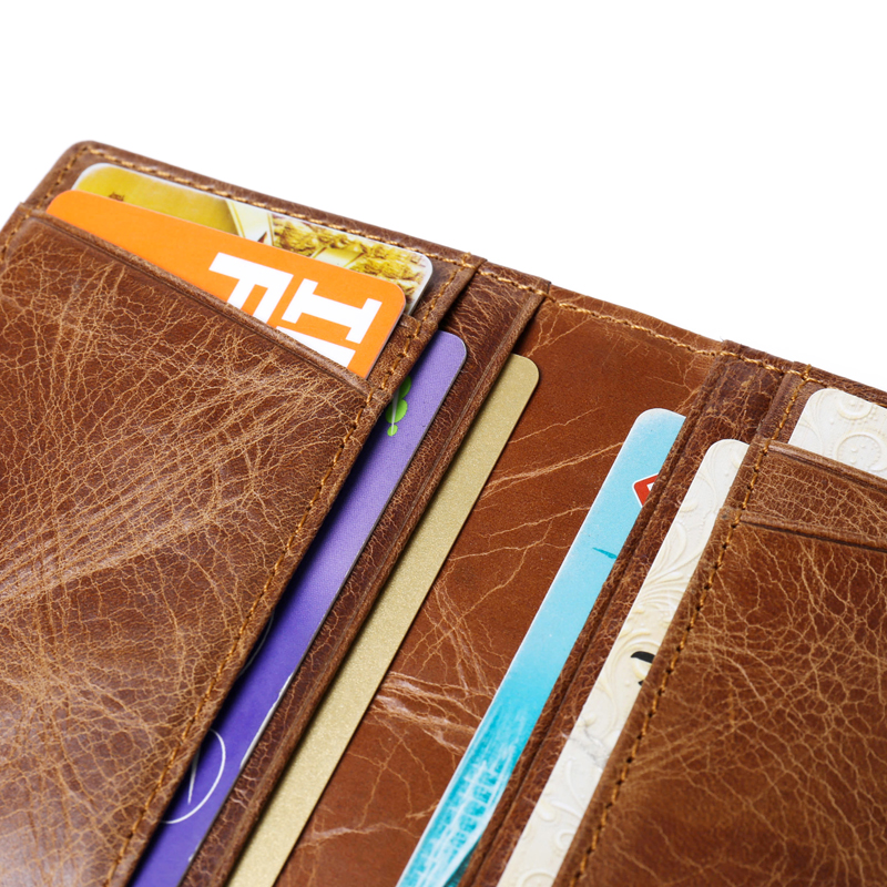 Bank ID Business Credit Men Card Holder RFID Wallet Protection Blocking Genuine Leather Cover Male Purse Case For Cardholder Bag in Card ID Holders from Luggage Bags