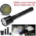 Высокое Качество 20000 Люмен 8x XML T6 5 Режим 18650 Super Bright LED Flashlight