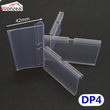 100pcs/lot Clear PVC Plastic Price Tag Sign Label Display Holder Thickening For Store Shelf Hook Rack or Supermarket