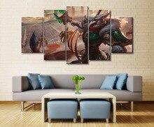 5 Piece Wall Art Painting Canvas For League of Legends Viktor Game Modern Room Decor Artwork HD Print Living