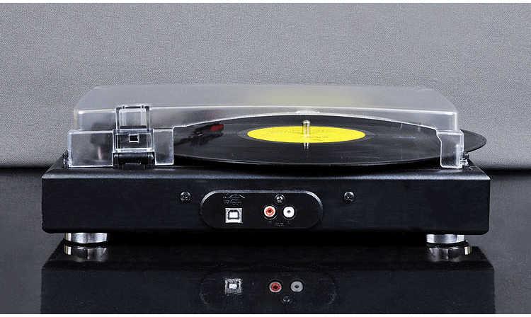 [中国]蓄音機ビニールレコードプレーヤーポータブルステレオlpターンテーブルpcコンピュータターンテーブルフォノplattenspieler