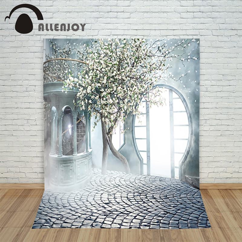 Romantic wedding background Tree Misty Garden Door photo studio backdrop vinyl fabric photography backgrounds