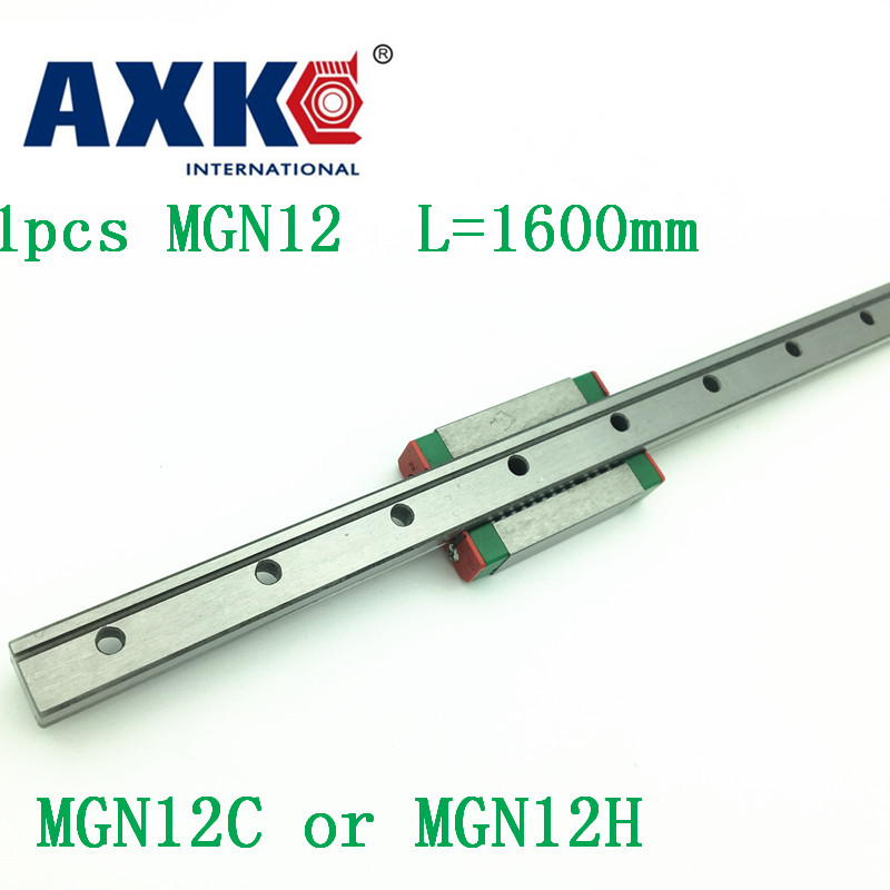 12mm Linear Guide Mgn12 L= 1600mm Linear Rail Way + Mgn12c Or Mgn12h Long Linear Carriage For Cnc X Y Z Axis thk interchangeable linear guide 1pc trh25 l 900mm linear rail 2pcs trh25b linear carriage blocks