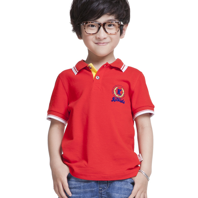 boy polo shirt short sleeve kids t shirts summer 100% cotton child fashion shirts solid designed kids clothes size 5-16 y