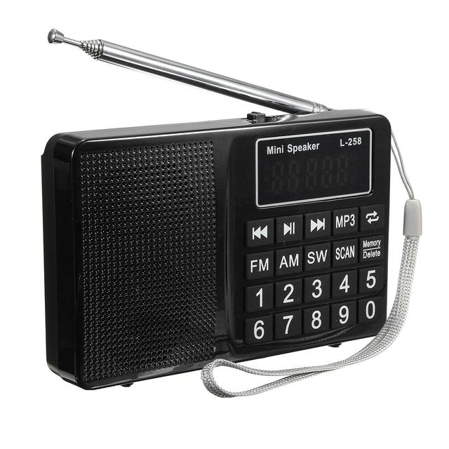 Высокое Качество Портативный ЖК-FM/AM/SW Радио Стереосистема Музыка Mp3-плеер Micro SD USB AUX