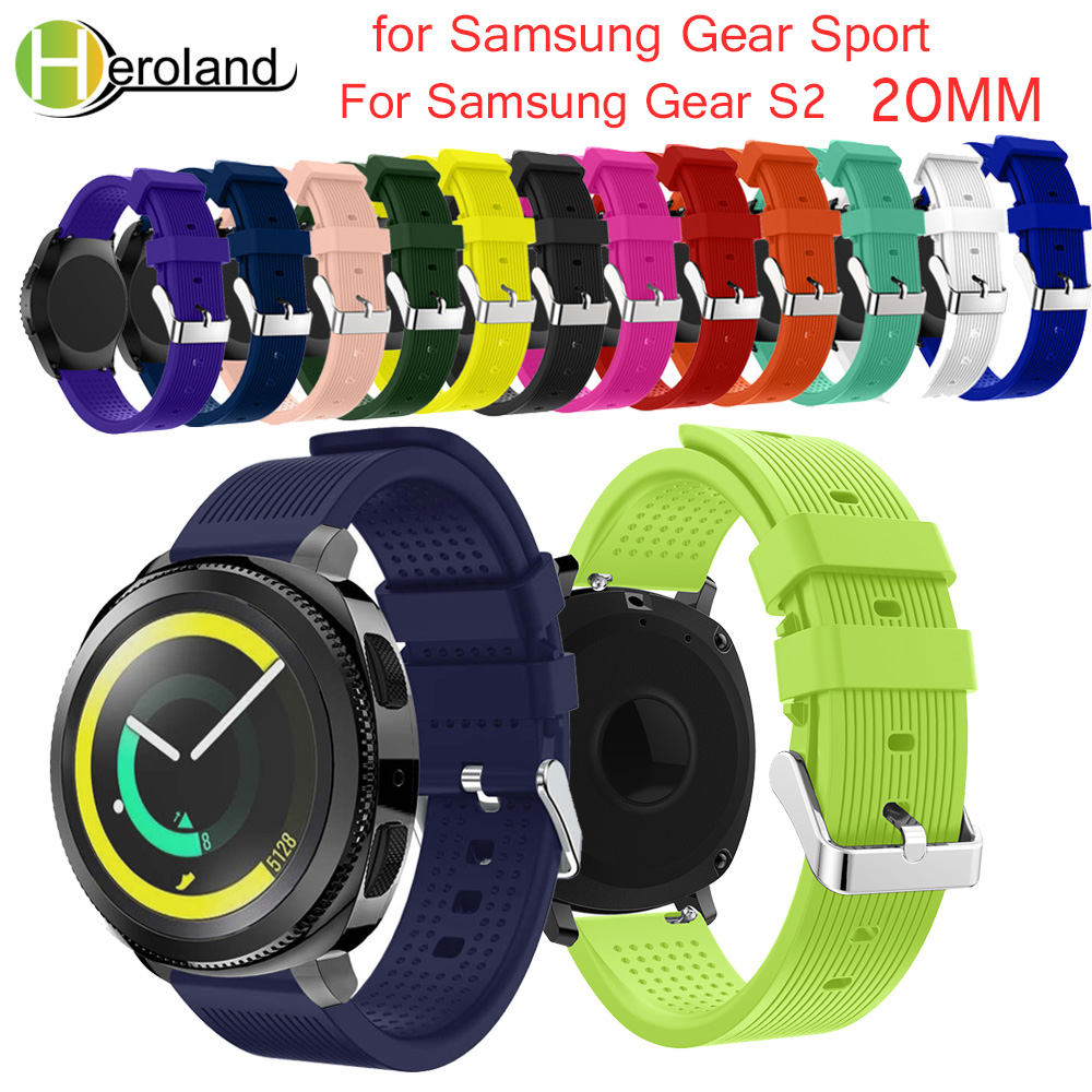 Soft Silicone Watchband For Samsung Gear Sport 20mm Replacement Wristband Strap For Samsung Gear S2/S4 Classic Smart Accessories