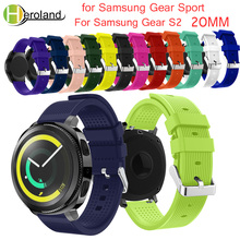 Soft Silicone watchband For Samsung Gear Sport 20mm Replacement Wristband Strap for Samsung Gear S2/S4 Classic smart Accessories цены онлайн