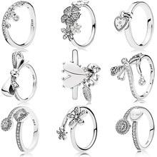90ee2574c 2018 Real 925 Sterling Silver Original Spiritual Symbols Brilliant Bow Love  Lock Pandora Ring For Women Gift Charm DIY Jewelry