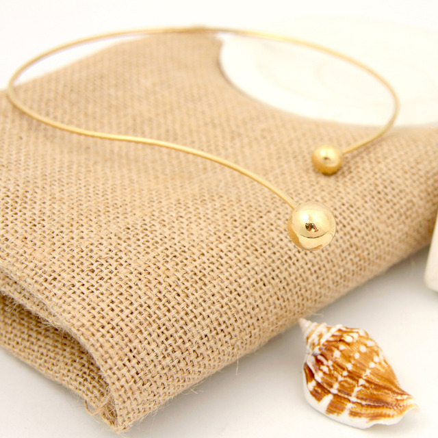 Shuangshuo 2017 New Fashion Simple Torques Collar necklace for women Personality Women Collar Necklaces Maxi Chokers